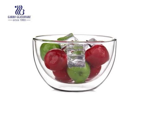 Recipiente de vidrio de doble pared resistente al calor de 21 oz resistente al microondas