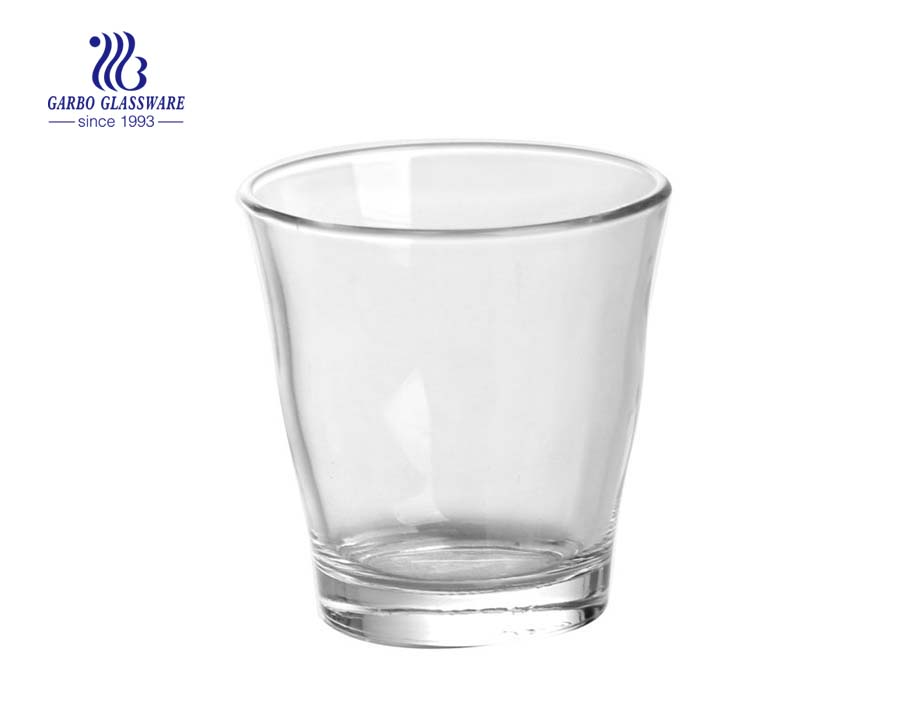 6oz round shape whisky drinking glass cup