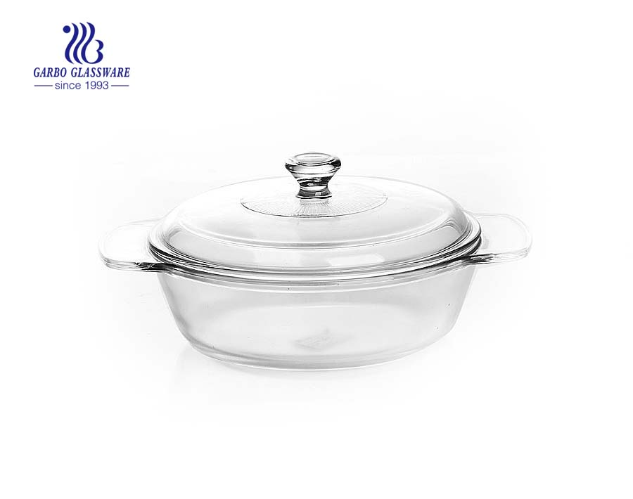 Pyrex 1.5L baking glass soup pot with ear handle
