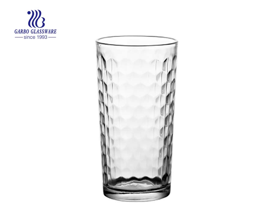 9oz dot design water glass tumblers