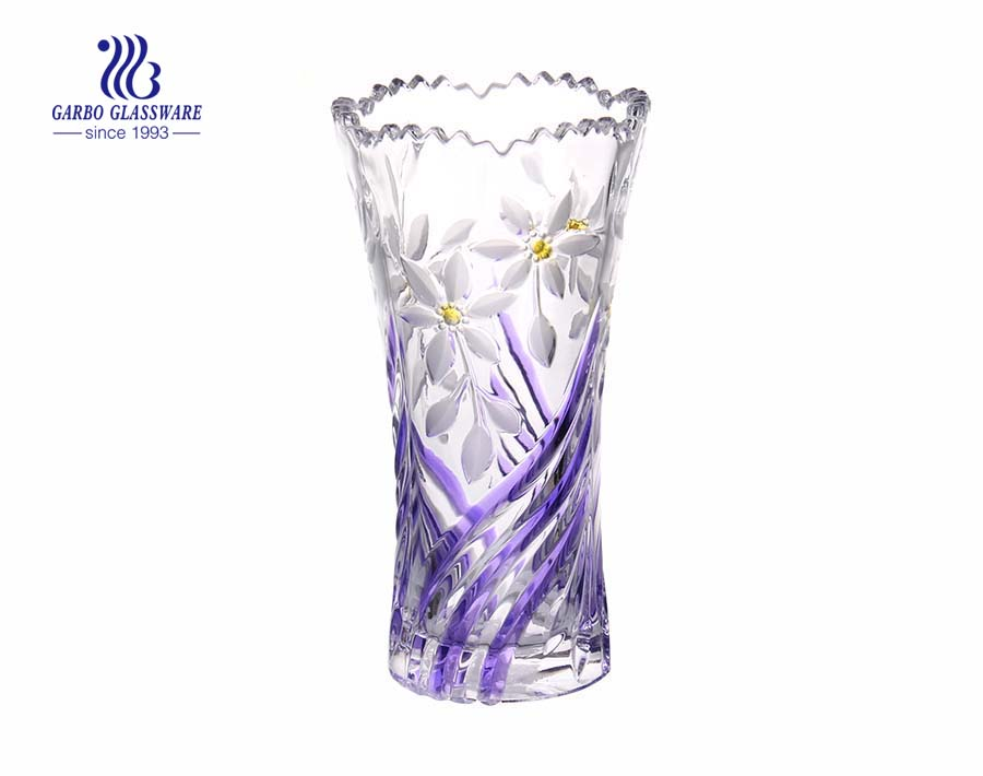 China elegant glass vase with spray color for decor