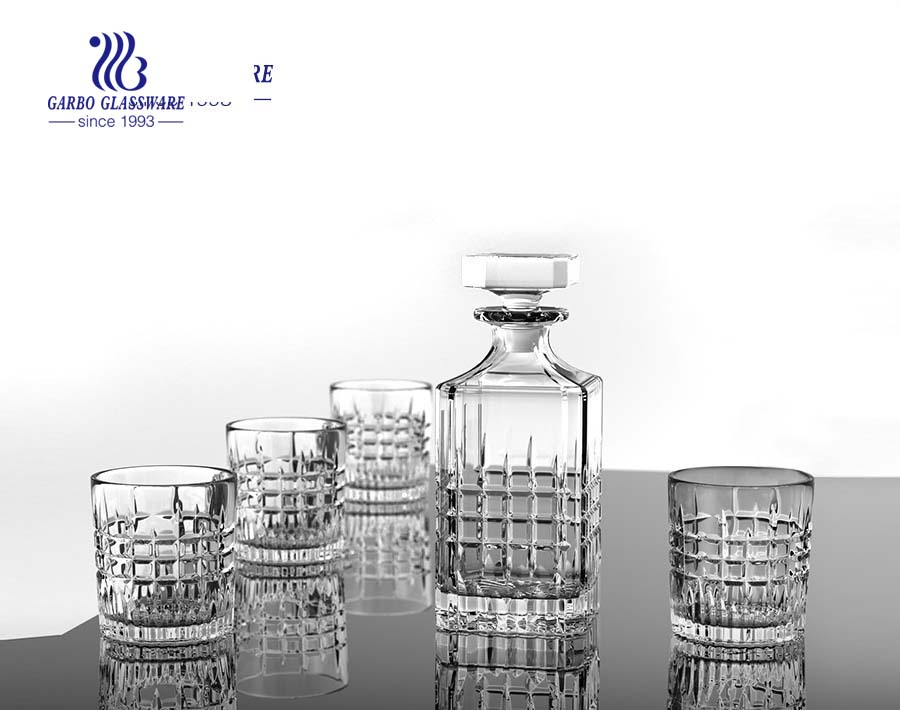 Wholesale 7pcs glass decanter sets 750ml