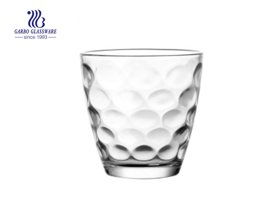 7oz egg shape popular dot design glass water cup