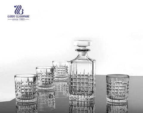 Großhandel quadratische klare Whisky Glas Dekanter