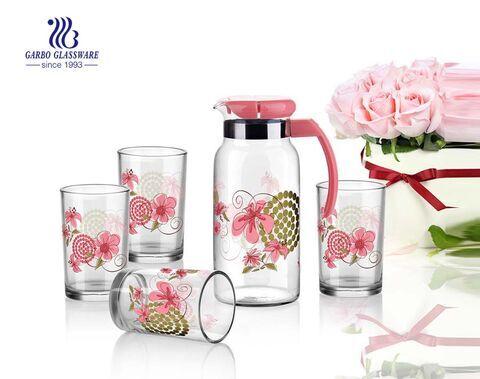 5 Stück Glastrink-Set mit 4 Glastunern mit 1 Glas Glaswaren Haushaltsgetränk