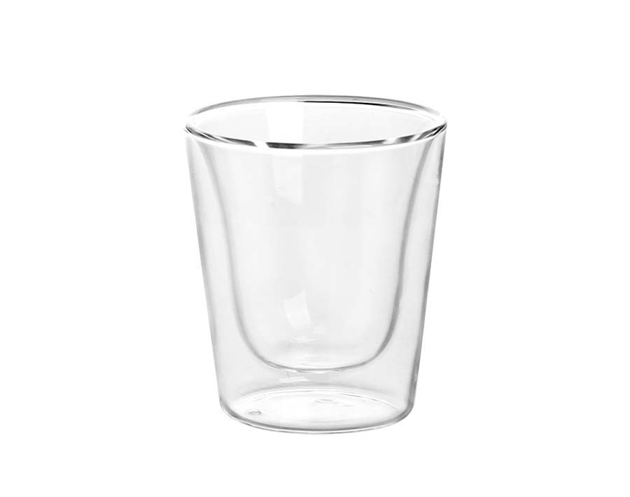 10oz Double wall pyrex clear coffee glass mug