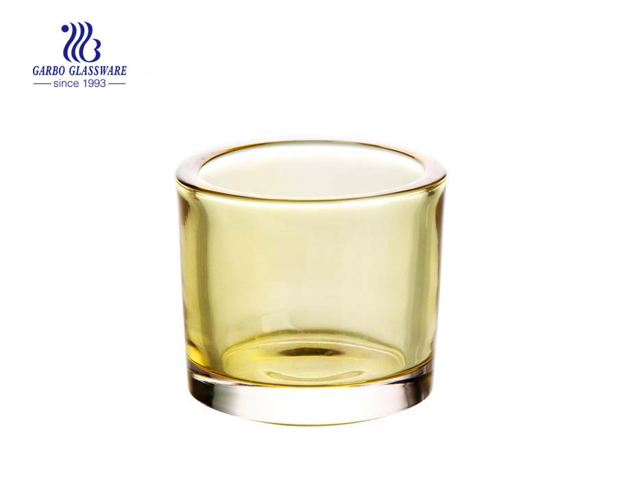 China mini glass candle holders candle tumblers