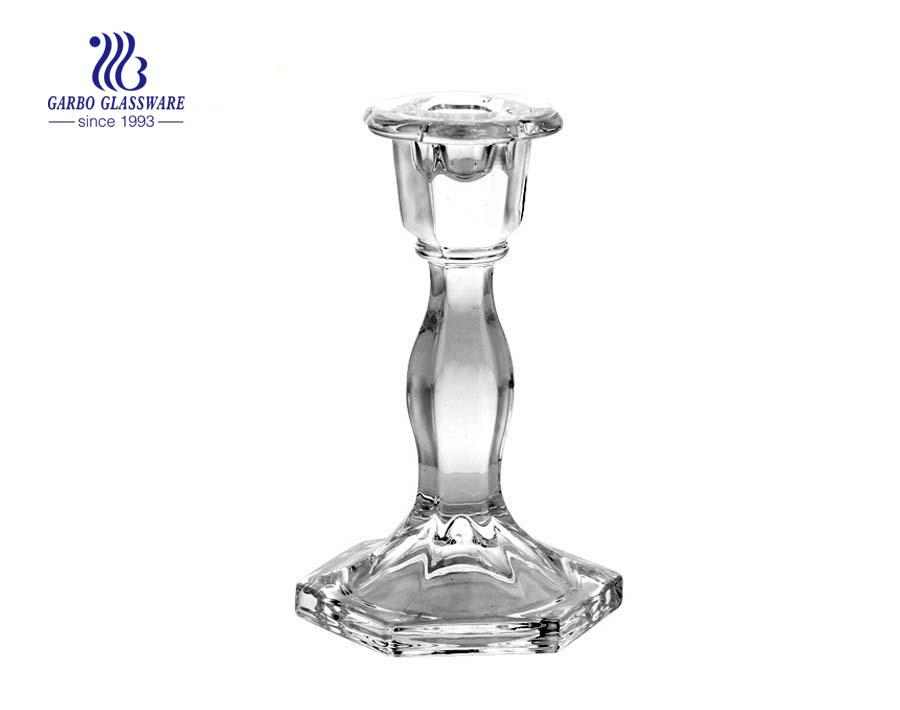 china tall clear glass candle holders