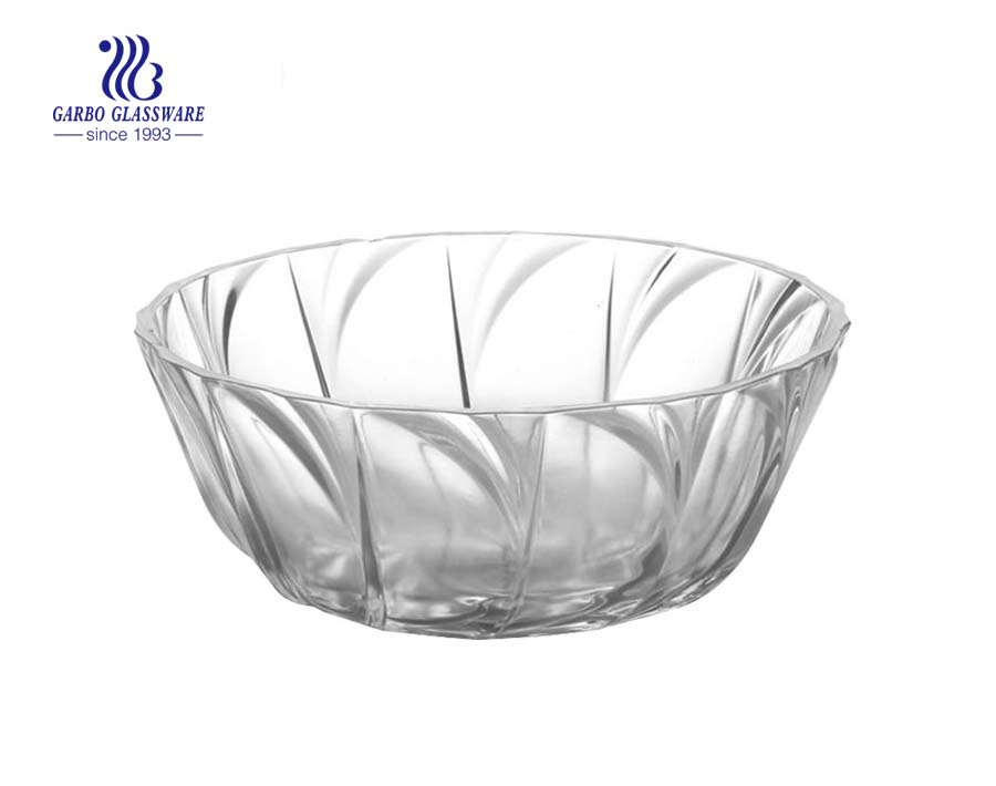 STOCKED 6.5 inch glass dinner serving bowl kitchen glassware