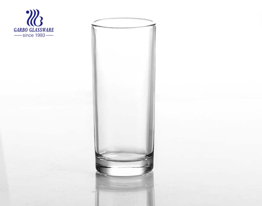 7oz clear high ball water glass cup