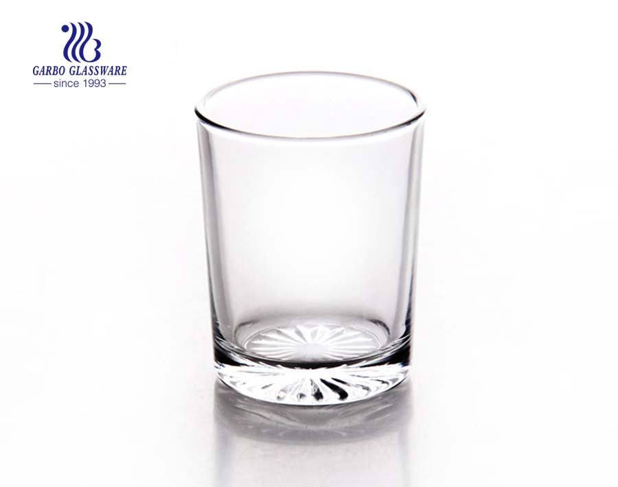 2oz small tea drinking glass cup