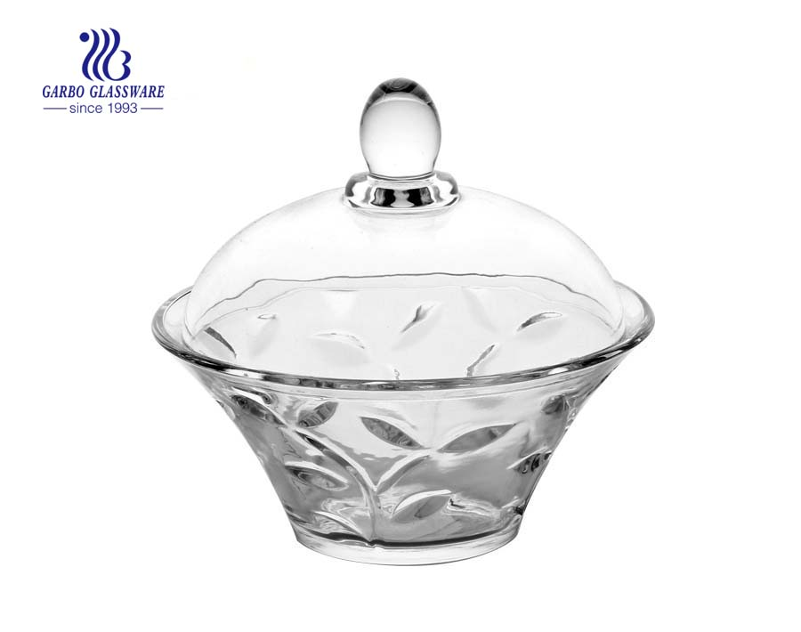 Decorative Glass Candy Jars with Lids for Sale