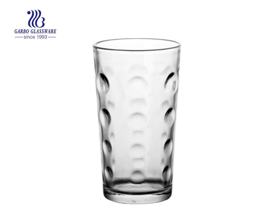 8oz egg shape pressed water glass tumbler
