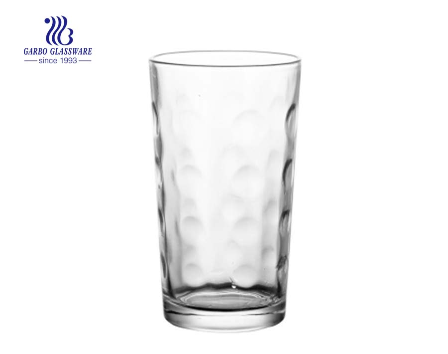 8oz egg shape pressed water glass tumbler
