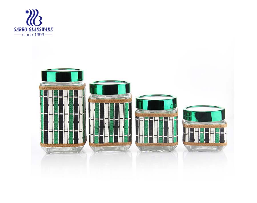 glass storage jar set with pp lid
