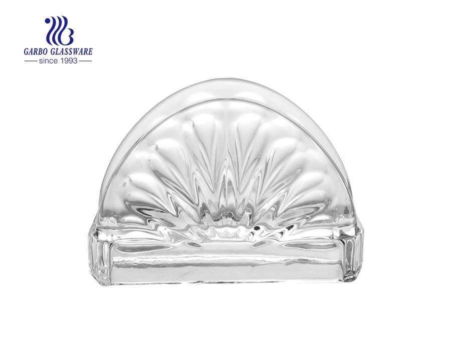 Garbo glassware napkin holder glass