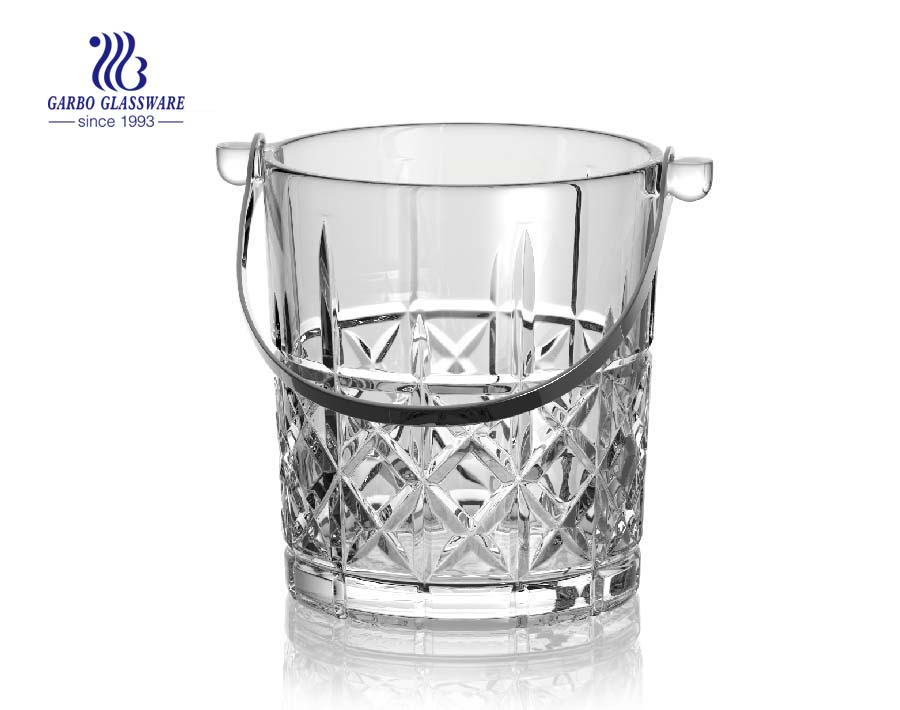 1000ml Fancy cut glass champagne bucket price