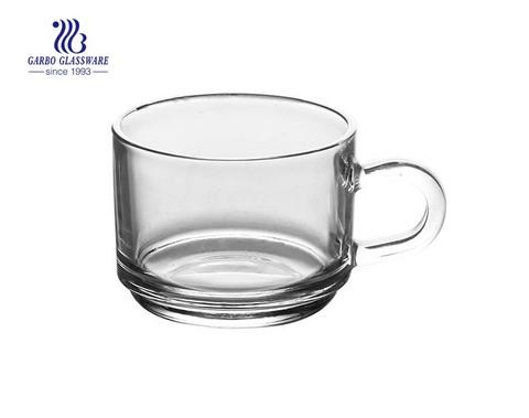 clásica taza de café de vidrio de alta calidad
