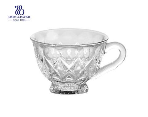 Taza de café de vidrio transparente de 180 ml