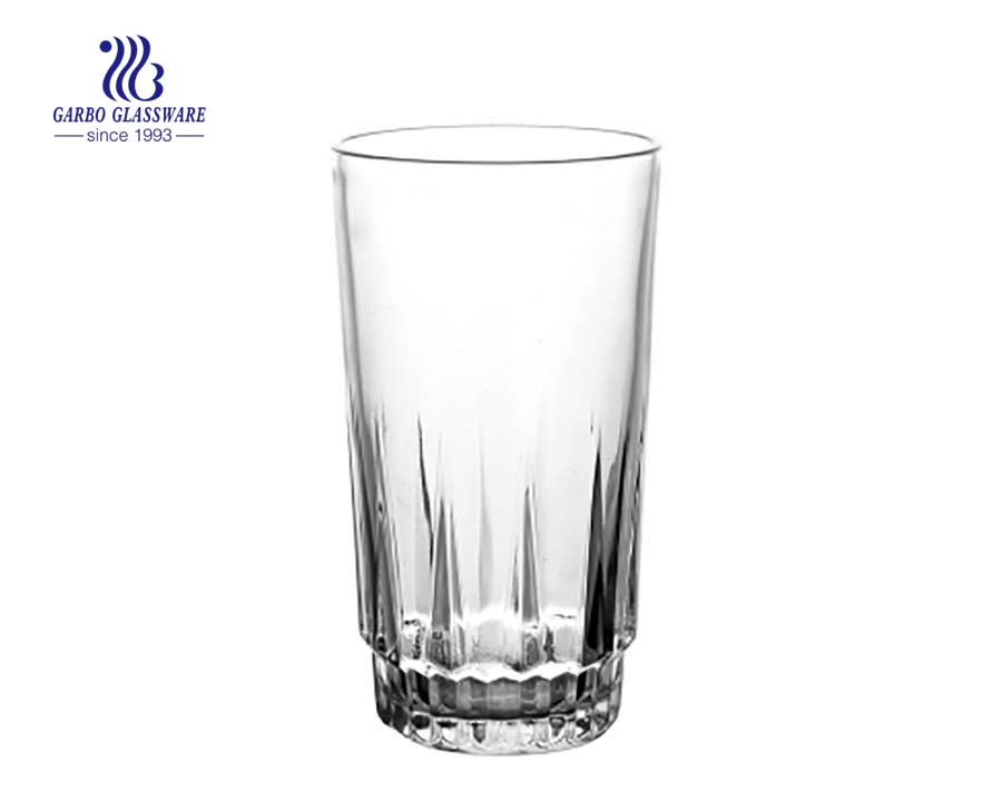 12oz high tea drinking glass tumbler
