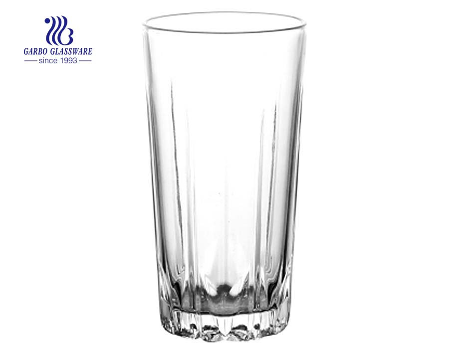 12oz high tea drinking glass tumbler