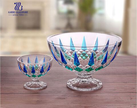 Home furnishing glassware decorative Middle East style fruit bowl set 7PCS