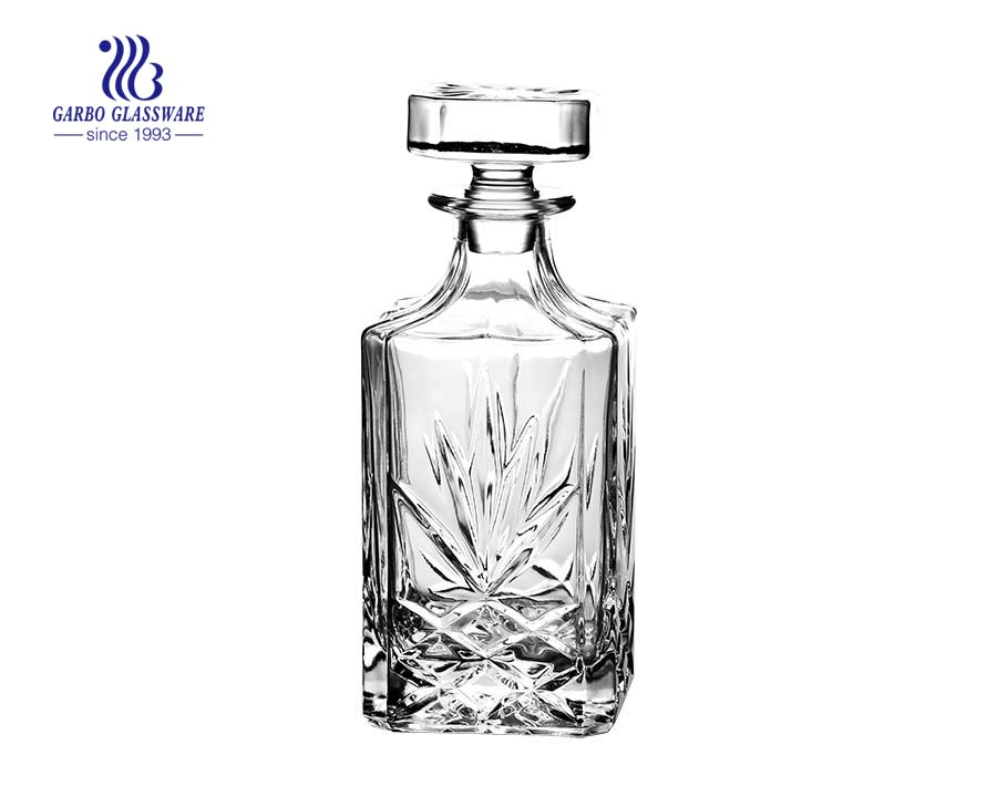 850ml clear whiskey glassware decanters