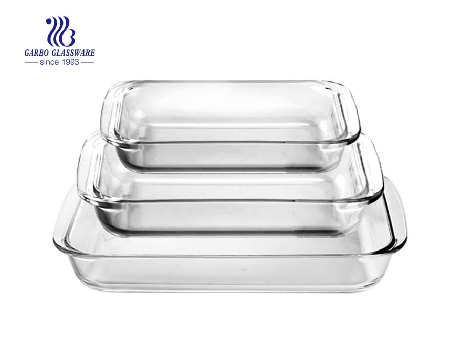 China Glassware manufacture 1.8LBaking dish glassware set