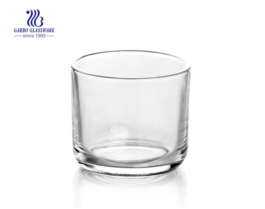 classic clear round glass candle holders bulk