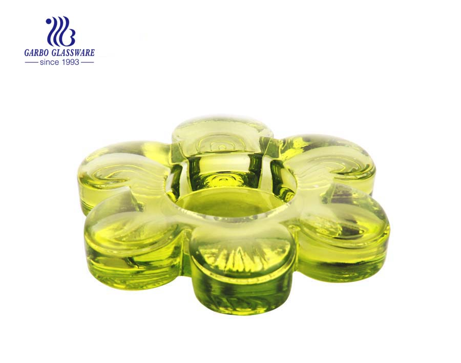 green glass candle holders for sale