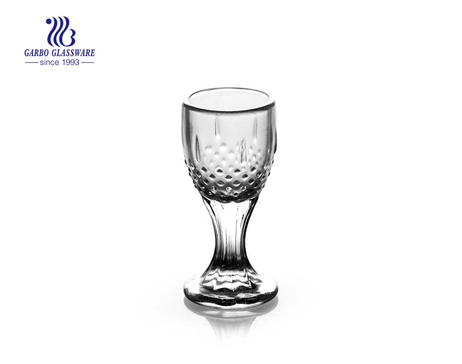 11oz engraved clear shot glass