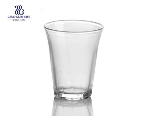 Copo transparente de 70 ml para beber vinho