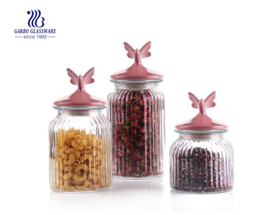 1300ml Clear Gl Food Storage Jar