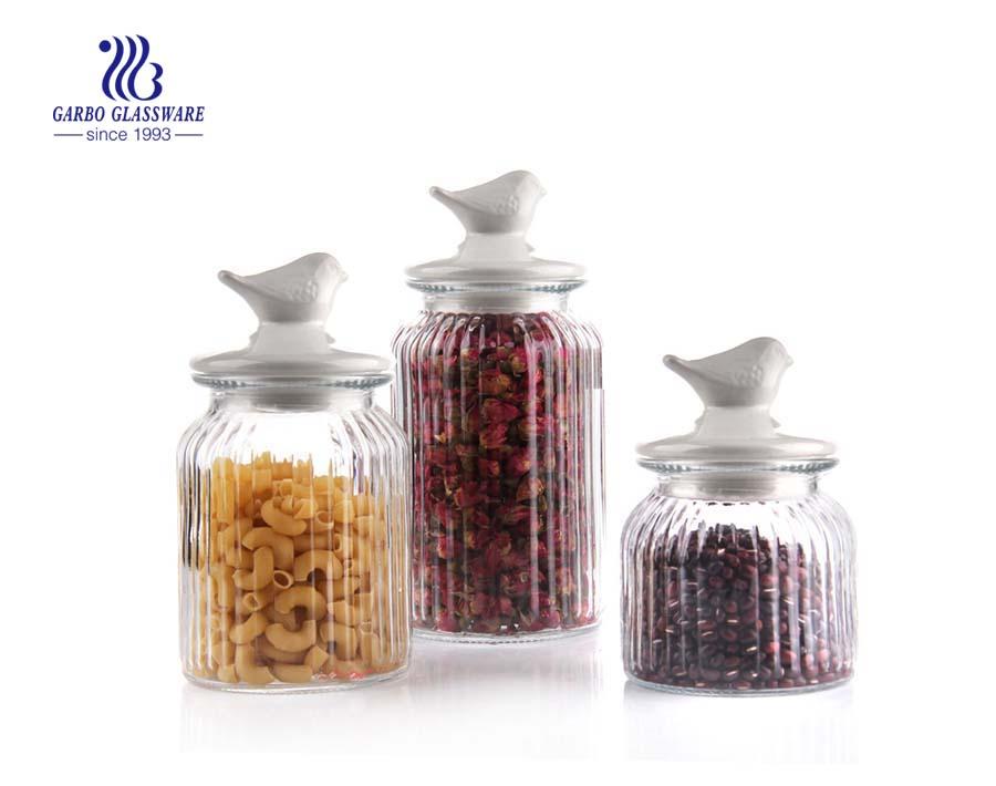 650ml clear glass storage jars