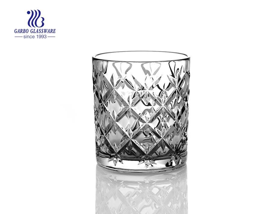 8oz glass whisky cups for wine drinking with factory price