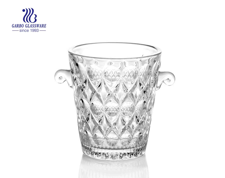decorative champagne bucket with glass holder supplier