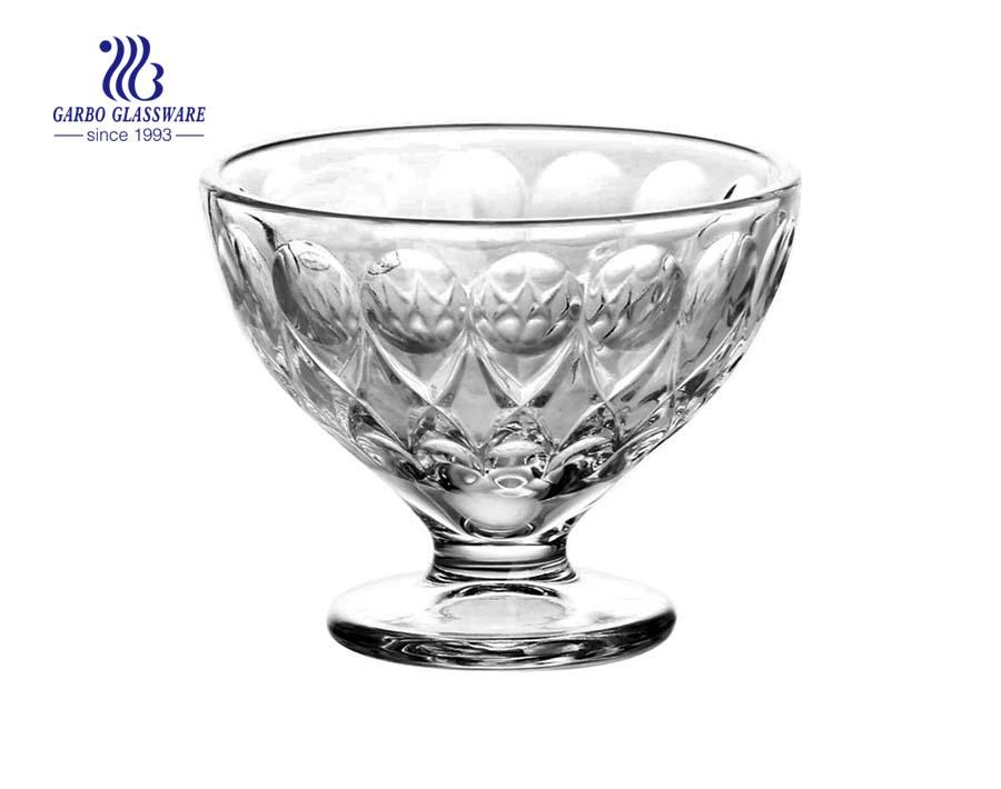 diamon design curved glass ice cream bowls price