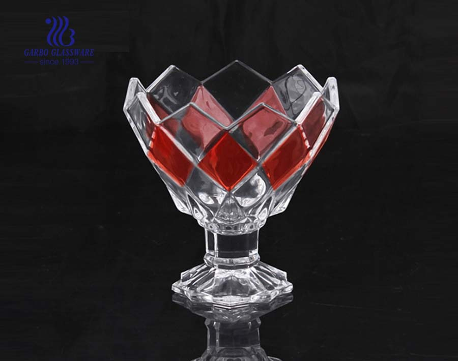 China factory antique colored ice cream glasses