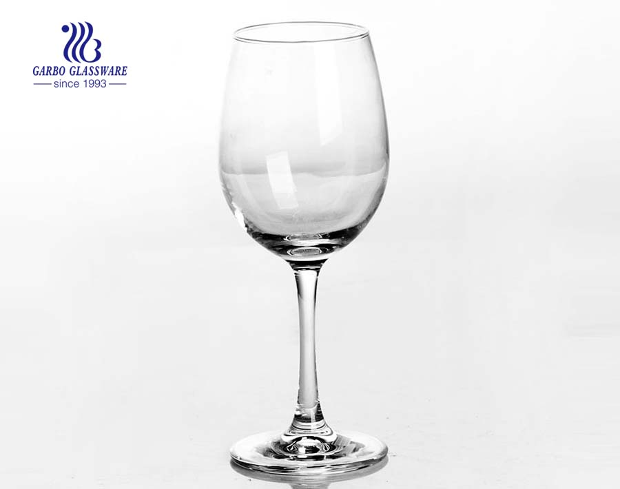 clear China extra long stem wine glasses