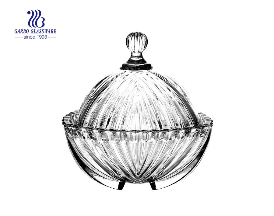 Engraved Shell Shape Glass Candy Jar