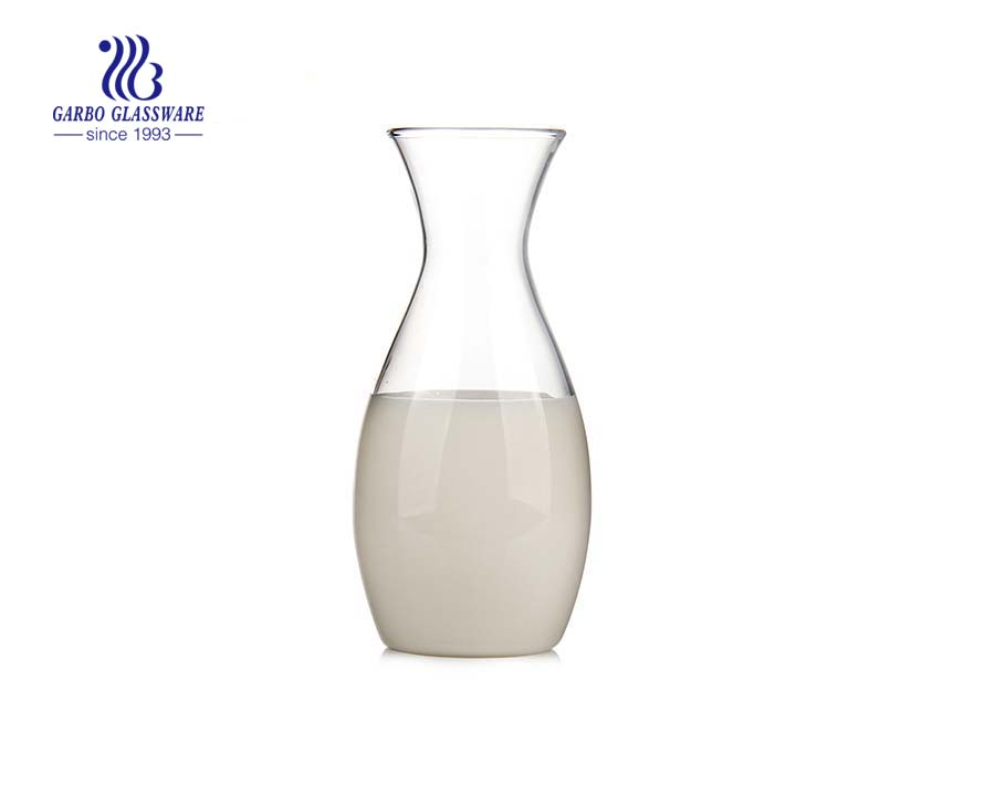 450ml LFGB FDA pass single wall pyrex glass milk bottle