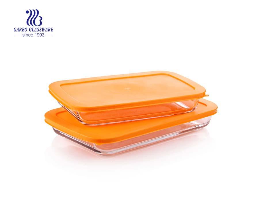 Heat resistant 2L baking glass dish