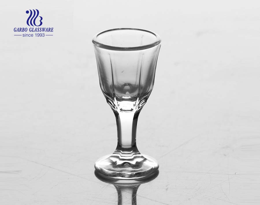 9ml Clear machine made shot glass with foot