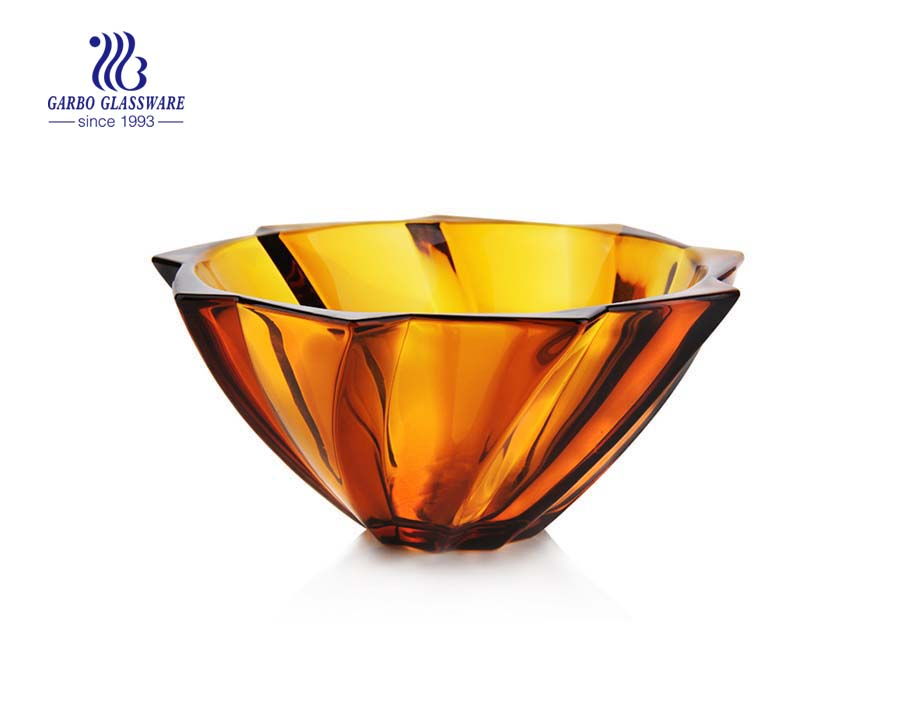 Amber Color Fruit Bowl for Home decoration