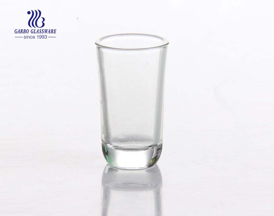Copo transparente de 19 ml para beber vinho