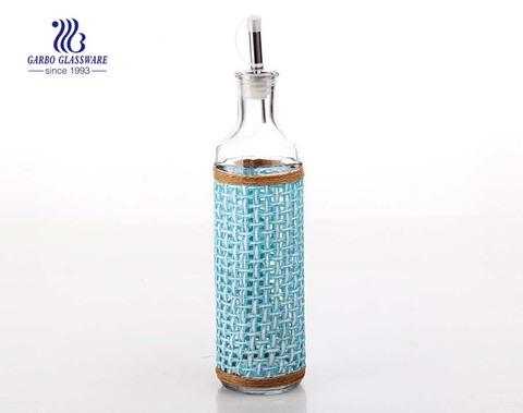 Frasco de vidro de 370 ml com tampa para armazenamento de óleo