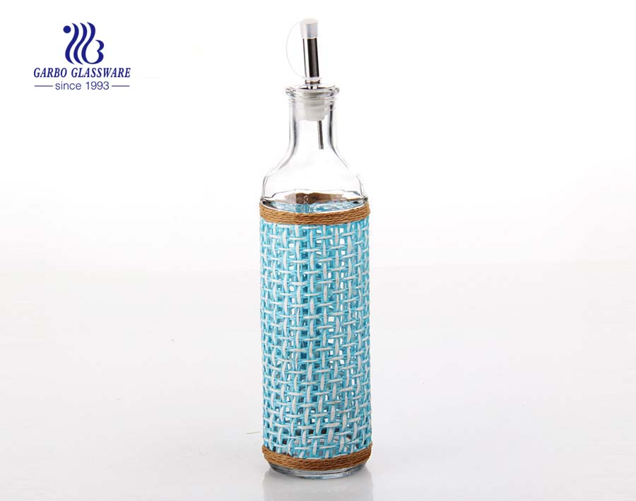 370ml Glass bottle with cover for oil storing