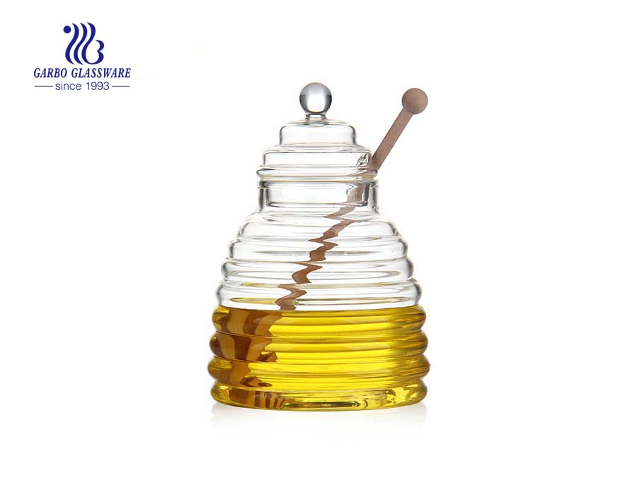 600ml Heat resistant borosilicate glass oil bottle with glass lid