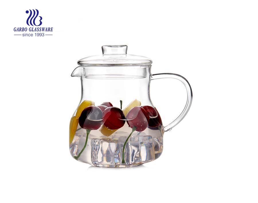 304 Stainless steel infuser borosilicate glass teapot 1L
