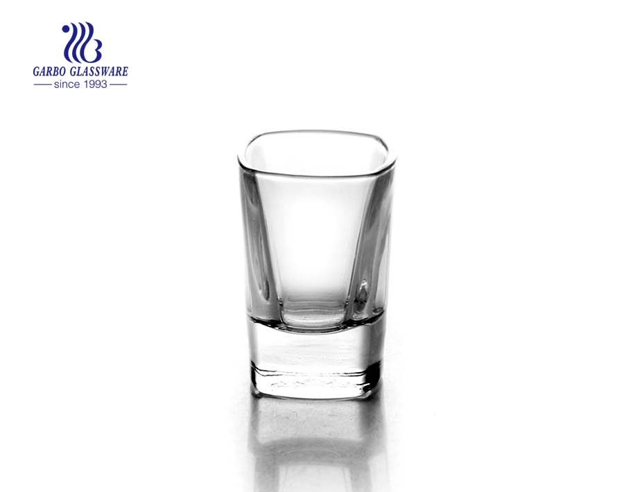 60ml Machine made transparent wine shot glass